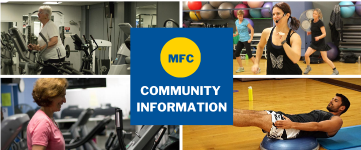four pictures of people in a fitness centre