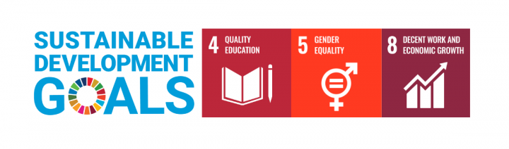 SDGs for Gabrielle Durepos: Quality Education, Gender Equality, Economic Growth