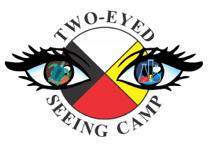 The Logo for the Two-Eyed Seeing Camp