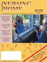 FAll issue Canadian Nursing Home cover