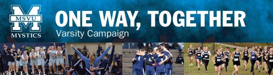 One Way Together slogan with four pictures of student athlete teams