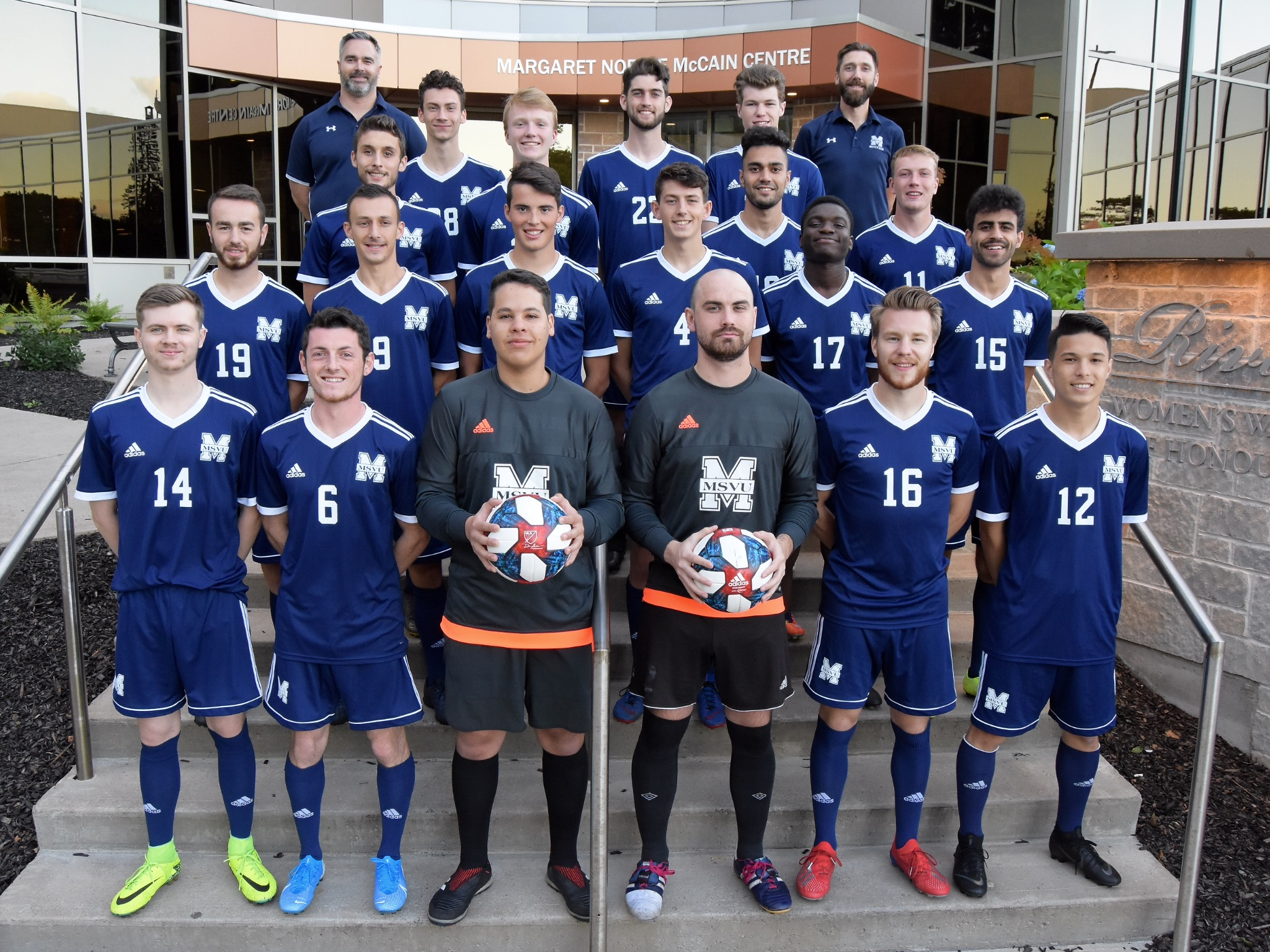 2019-20 MSVU mens soccer team