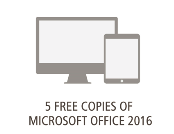 5 free copies of office 2016