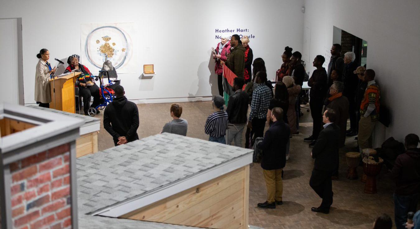 Northern Oracle exhibit on display in the MSVU Art Gallery