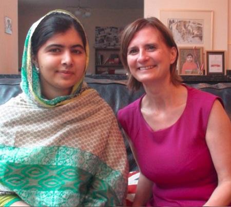 Amanda Sutherland and Malala Yousafzai