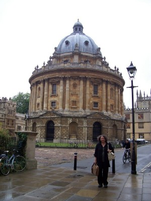 Anna Smol at the Bodleian Library, Oxford
