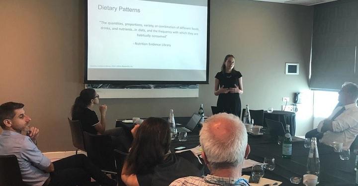 Antonia Harvey presenting in Tel Aviv