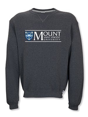 MSVU Men's Crew (Unisex) with MSVU Logo on The Top