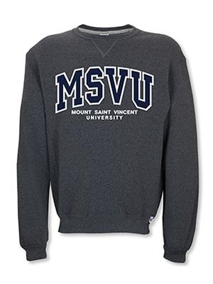 MSVU Men's Crew (Unisex) with MSVU written on Chest