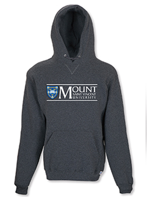 MSVU Branded Women's Hoodie with the Mount Logo on Chest