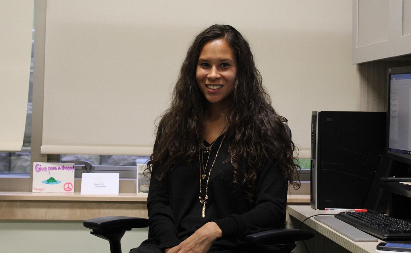 El Jones in her MSVU office