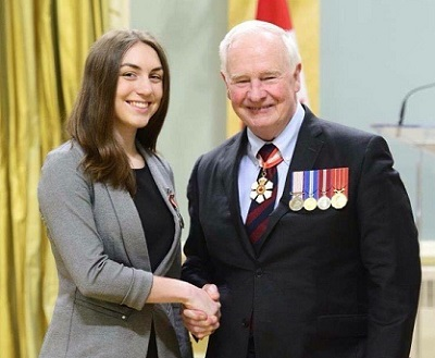 Emily Albert with the Governor General