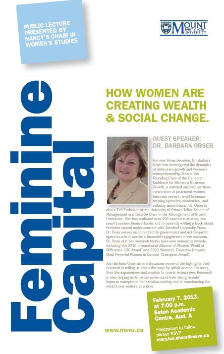 Feminine Capital Poster