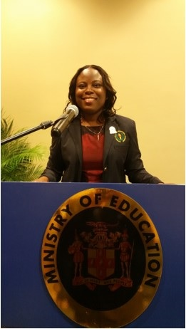 Kandi-lee at the Jamaica's Ministry of Education meeting