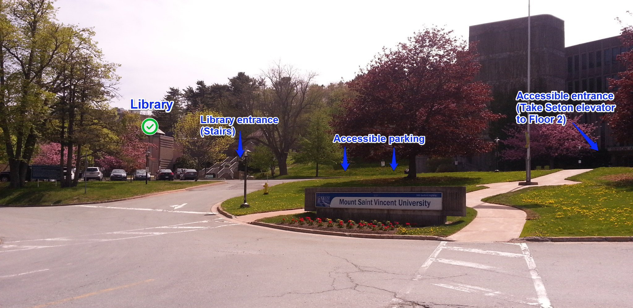 Picture of MSVU Entrance from Bedford Highway