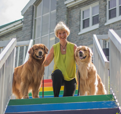 Mary and her dogs summer 2018
