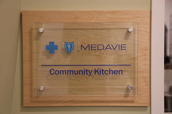 Medavie Community Kitchen sign at MSVU