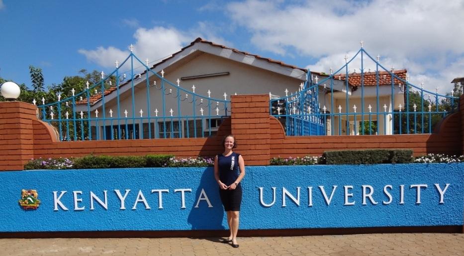 Mount Student Kristin Knight at Kenyatta University