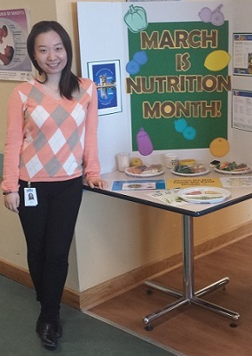 Nutrition student Connie Yu