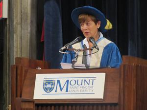 Ramona at podium