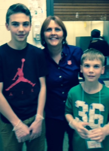 Rhonda and her sons