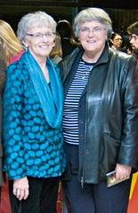 Sister Evelyn with Alexa McDonough