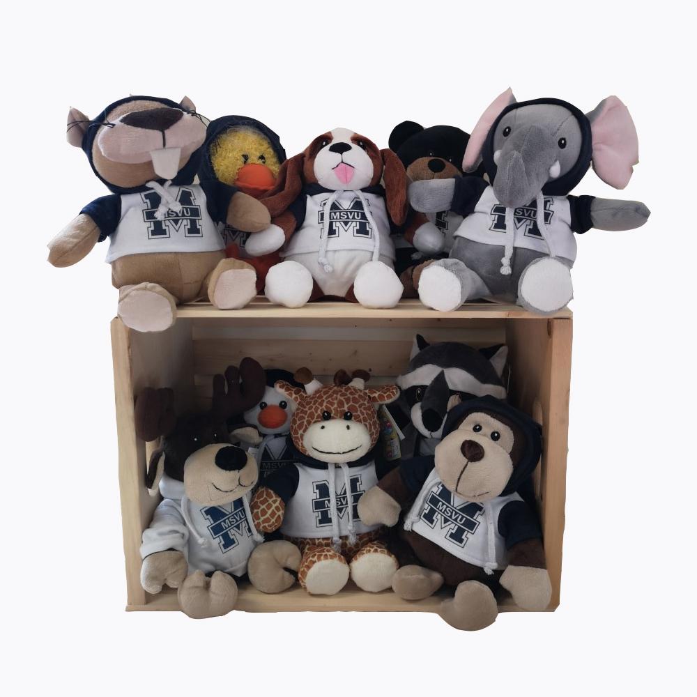 MSVU Plush Animals with Hoodies