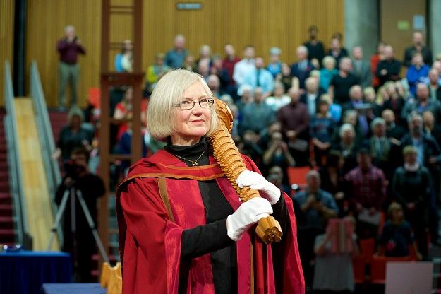 Susan Drain - Mace Bearer CROP - Fall 2014 convocation