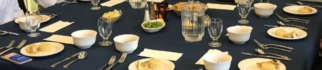 Table setting at Vincents
