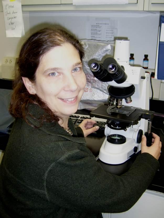 Tamara and microscope