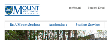 Use the MyMount link on the MSVU website