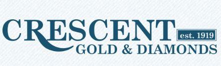 crescent gold and diamonds