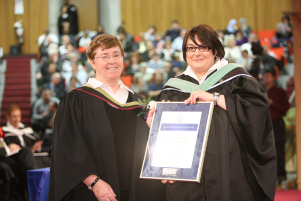 Denise Nevo Receiving Teaching Excellent Award
