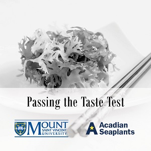 """Hana seaweed in greyscale with the text """"Passing the Taste Test"""""""