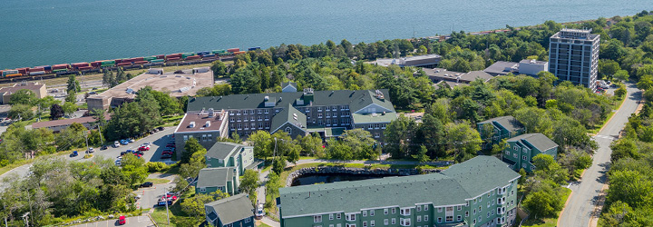 Drone photo of MSVU campus