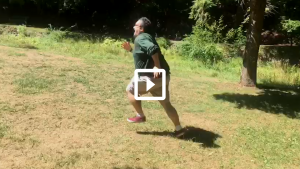 Man running on grass