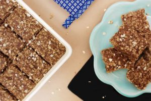 Beyond breakfast bars in pan and on plate