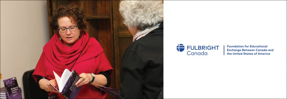 Marina Gonick with the Fulbright Canada logo