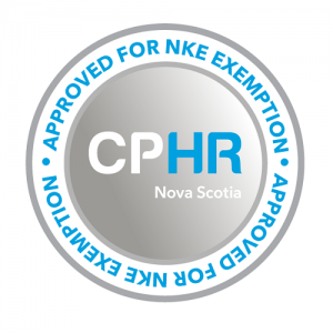The NKE Exempt Seal Approval from CPHR Nova Scotia
