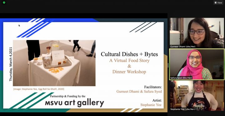 MSVU Art Gallery exhibit - Cultural Dishes + Bytes