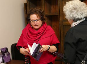 Dr. Marnina Gonick at a book launch