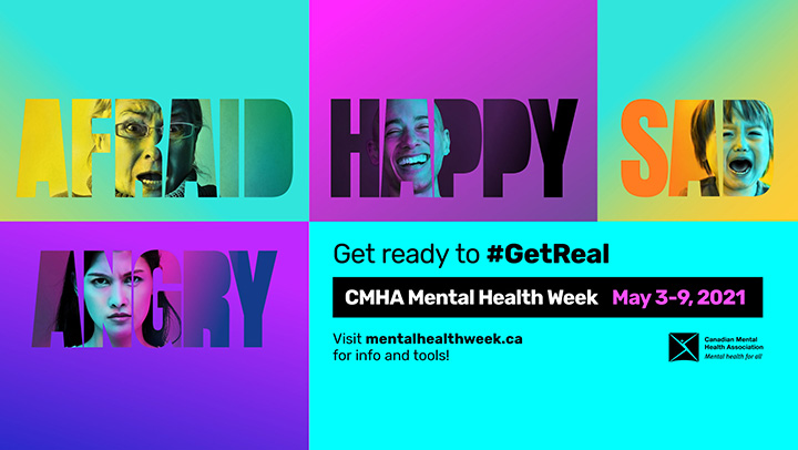 The Canadian Mental Health Association's Mental Health Week Campaign Banner (Name it don't numb it)