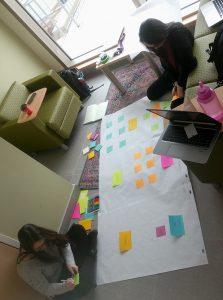 ECCRC team creating poster