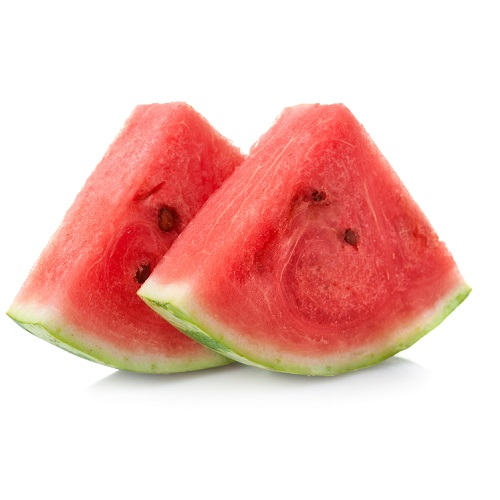 2 slices of watermelon