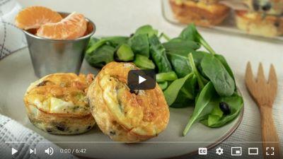 Mini Crustless Quiches with Black Beans video thumbnail
